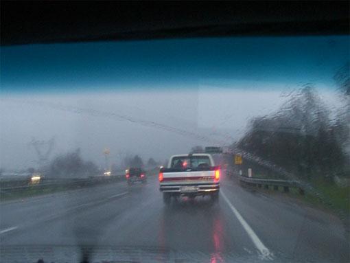вождение в дождливую погоду